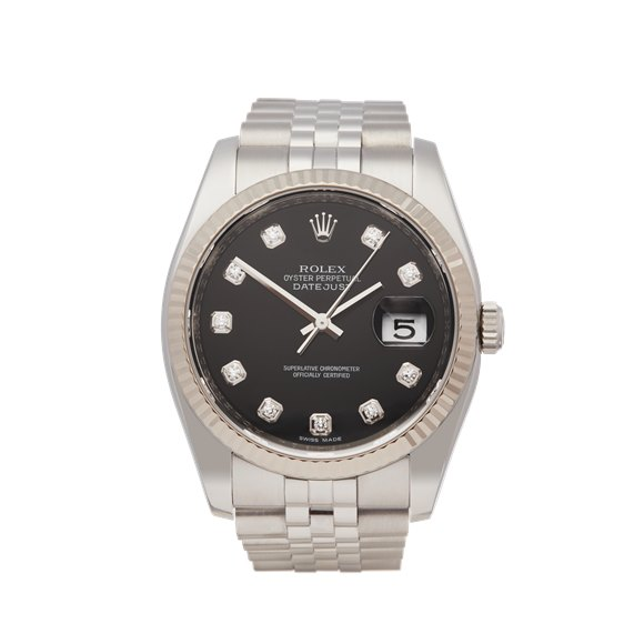 Rolex DateJust 36 Diamond Stainless Steel - 116234
