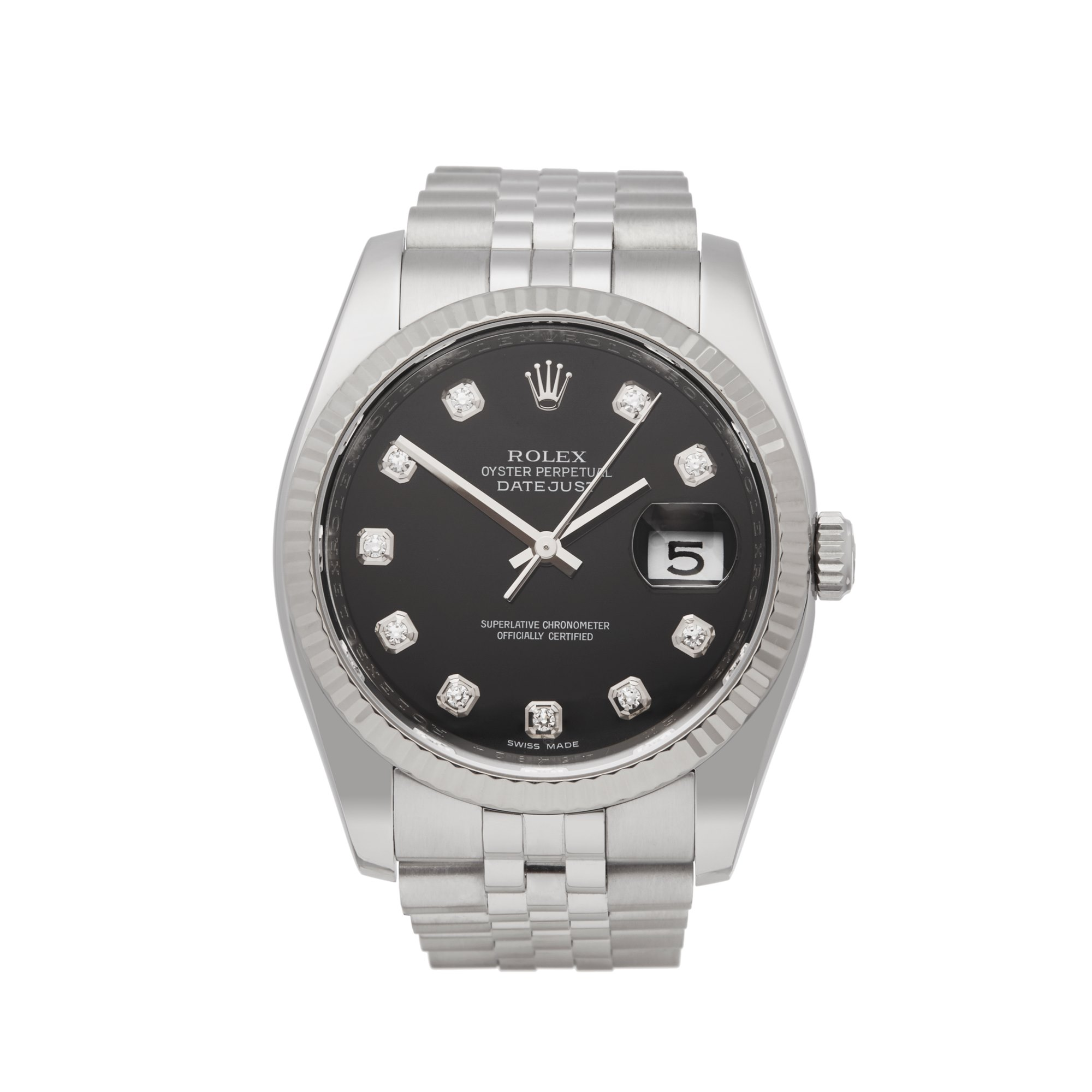 Rolex DateJust 36 Diamond Stainless Steel 116234