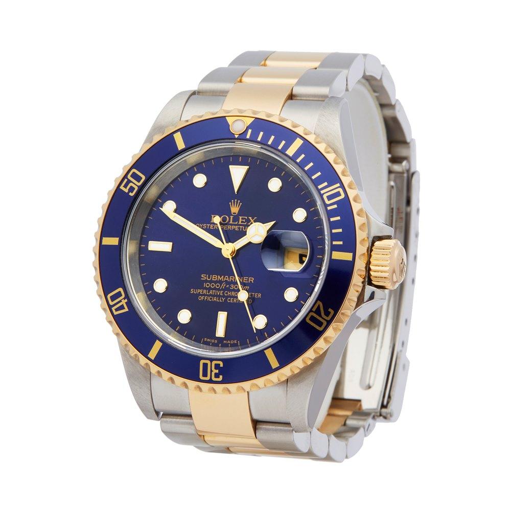 Rolex Submariner Stainless Steel & 18K Yellow Gold 16613