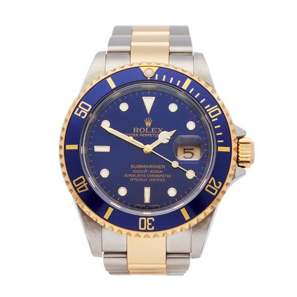 Rolex Submariner Stainless Steel & 18K Yellow Gold - 16613