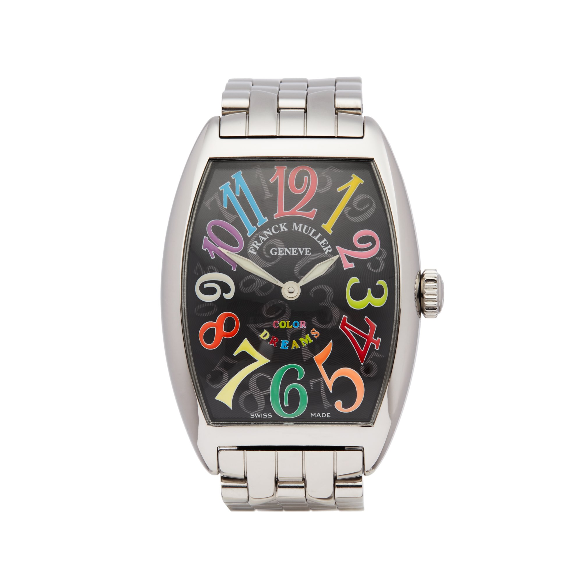 Franck Muller Cintree Curvex -- Colour Dreams Stainless Steel 2852QZ