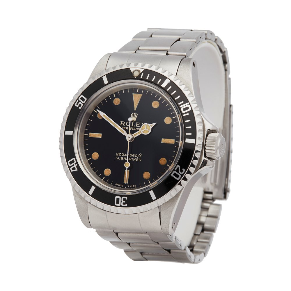 Rolex Submariner Non Date Gilt Gloss Stainless Steel 5513