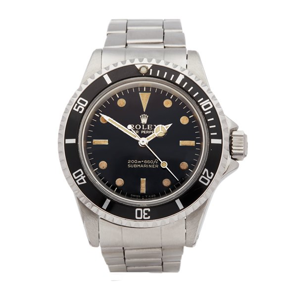 Rolex Submariner Non Date Gilt Gloss Stainless Steel - 5513