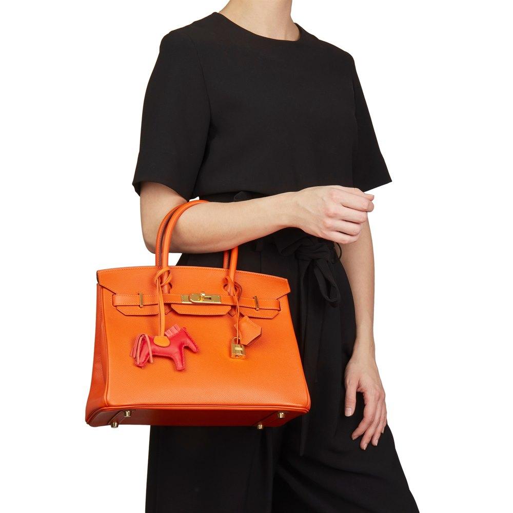 939f28f05f4 Hermès Orange H Epsom Leather Birkin 30cm