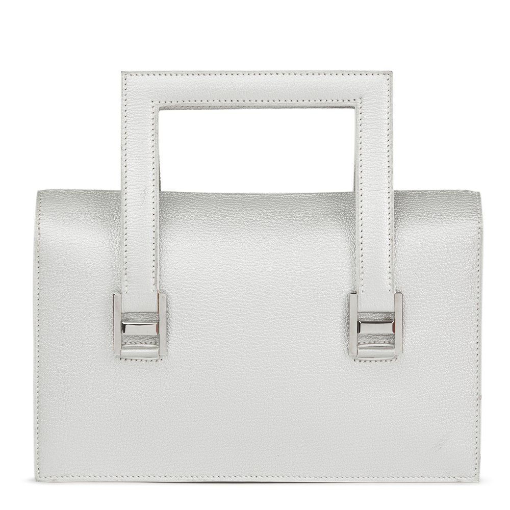 Hermès Silver Metallic Chevre Leather 365 PM