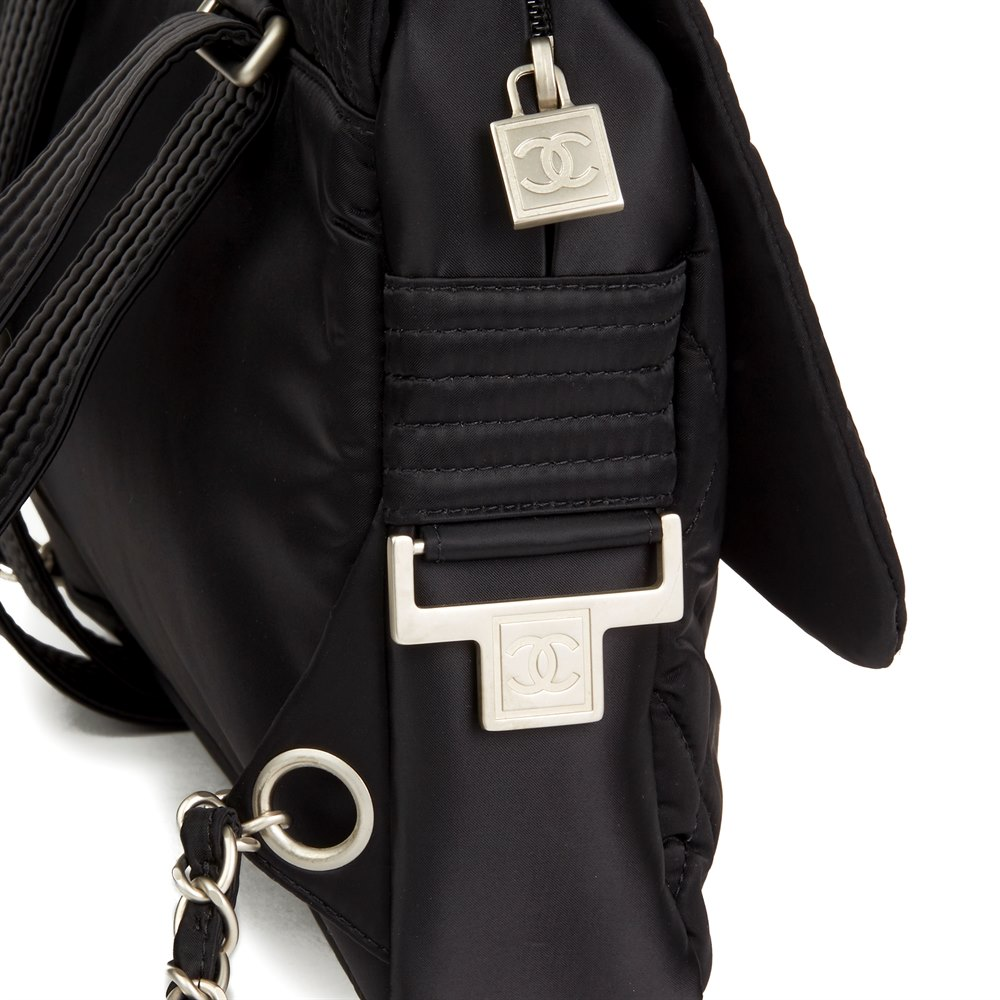 Chanel Black Quilted Nylon Sports Line Backpack