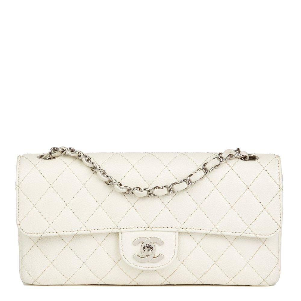996b32b2b4864e Chanel East West Classic Single Flap Bag 2005 HB2483 | Second Hand ...