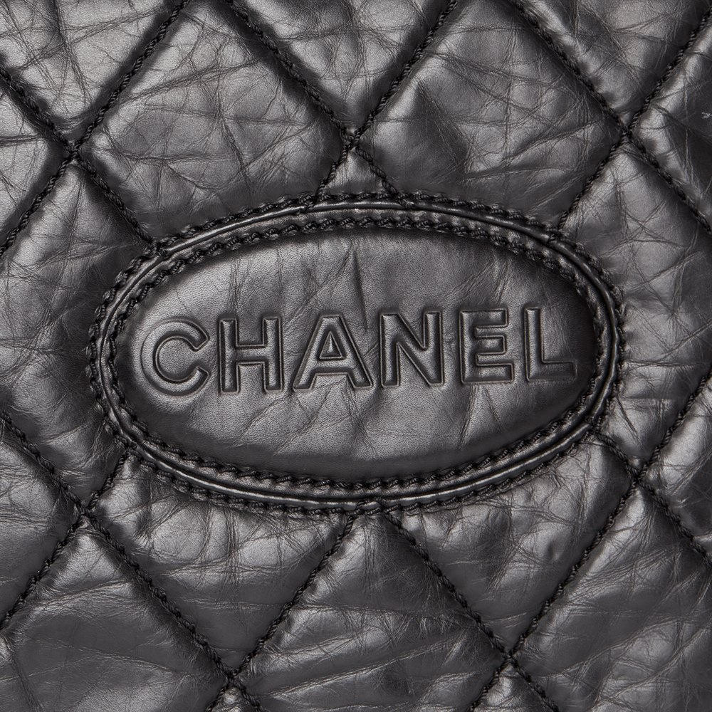 Chanel Black Quilted Aged Calfskin Leather Timeless Messenger Flap Bag