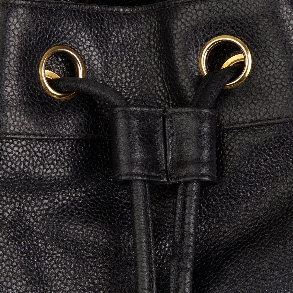 Chanel Black Caviar Leather Vintage Timeless Single Strap Backpack