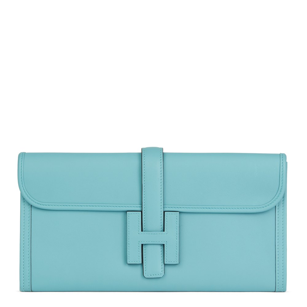 Hermès Blue Celeste Swift Leather Jige Elan 29