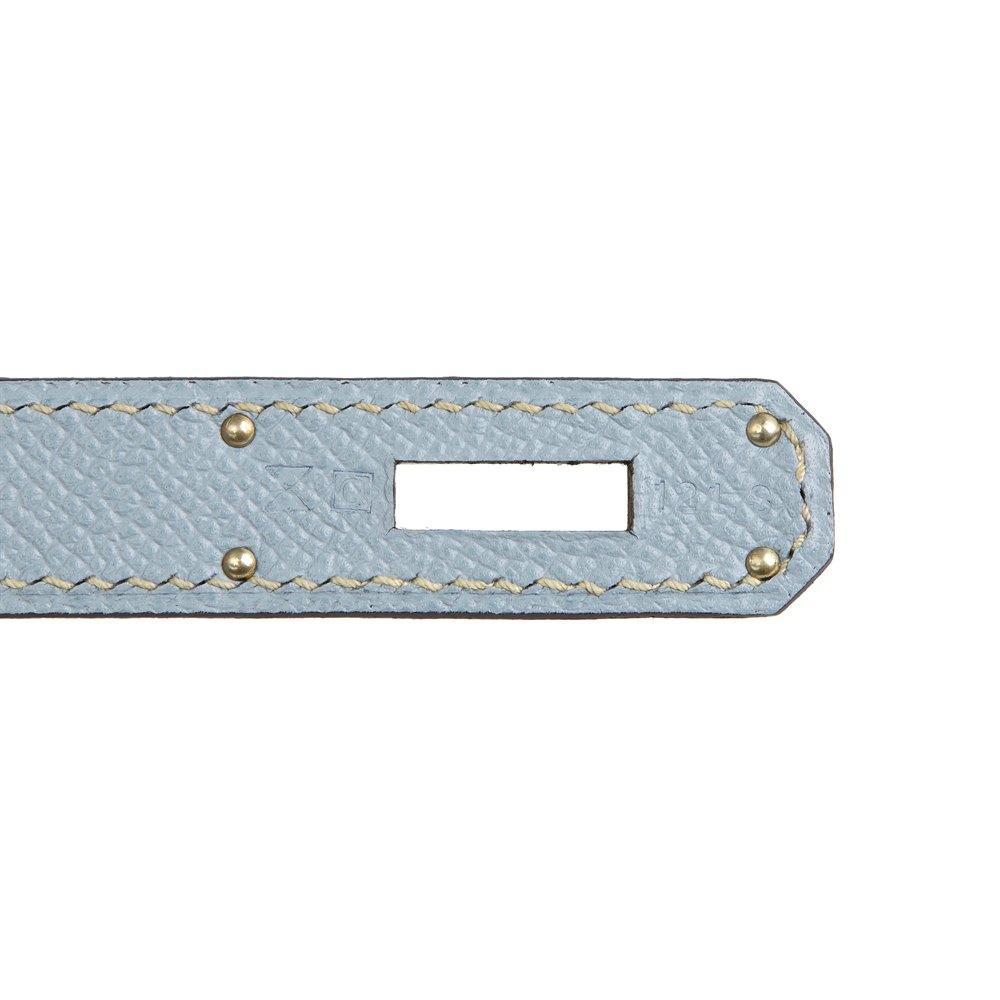 Hermès Blue Lin Epsom Leather Kelly 35cm Sellier