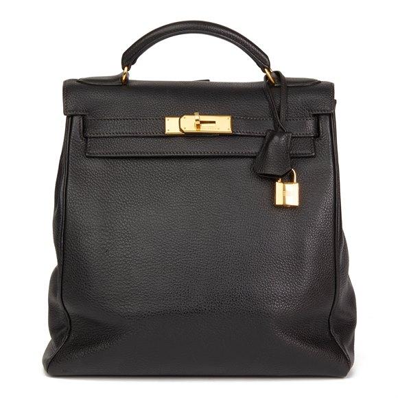 Hermès Black Togo Leather Vintage Kelly Ado Backpack