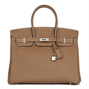 Hermès Etoupe Togo Leather Birkin 35cm