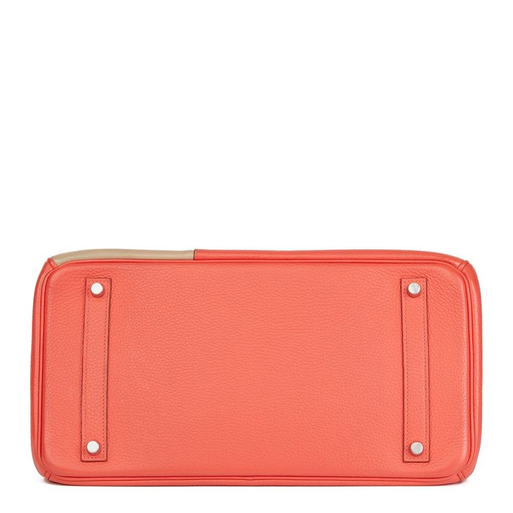 Hermès Rose Jaipur Clemence Leather, Etoupe & Argile Swift Leather Cascade Tri-Colour Birkin 35cm