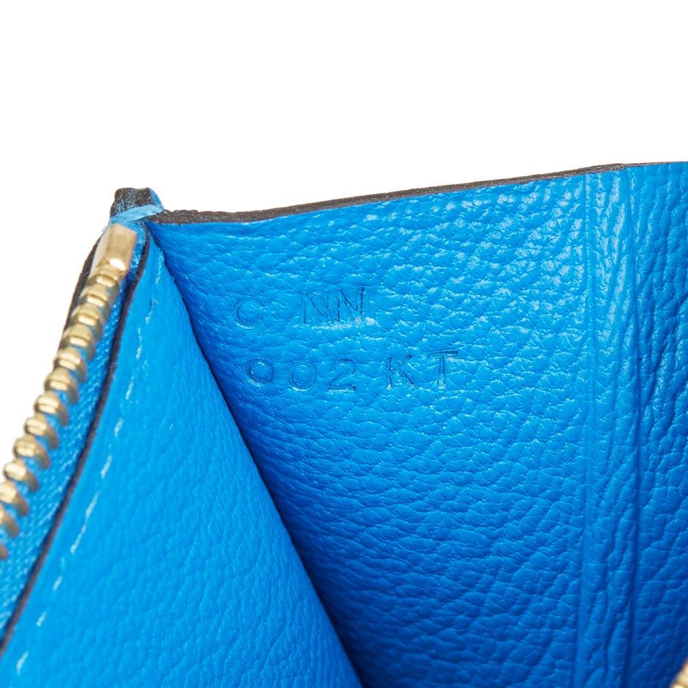 Hermès Blue Hydra Evercolor Leather Constance Compact Wallet