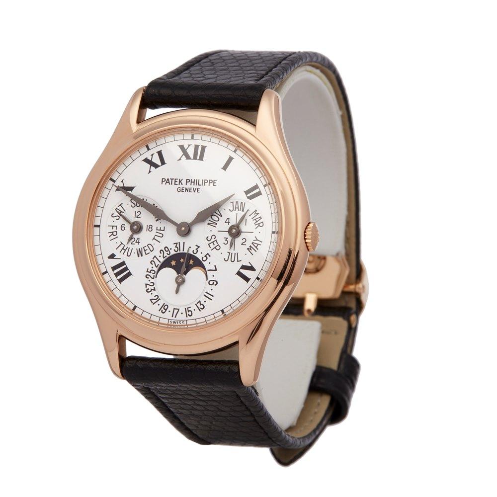 Patek Philippe Perpetual Calendar Porcelain Dial 18k Rose Gold 3940
