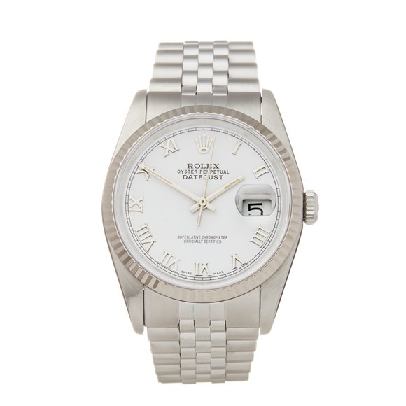 Rolex DateJust 36 18k Stainless Steel & White Gold - 16234