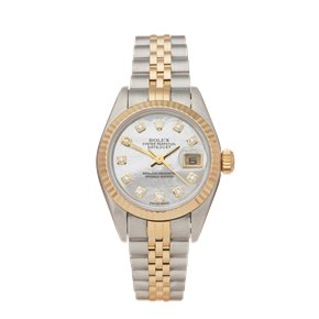 Rolex DateJust 26 Mother of Pearl Diamond Stainless Steel & Yellow Gold - 69173