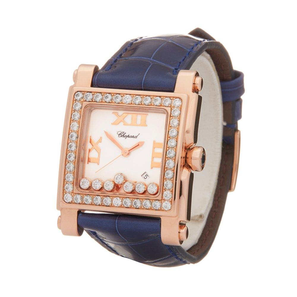 Chopard Happy Sport 7 Diamond 18k Rose Gold 275321-5002