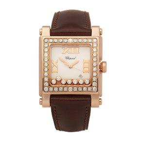 Chopard Happy Sport 7 Diamond 18k Rose Gold - 275321-5002