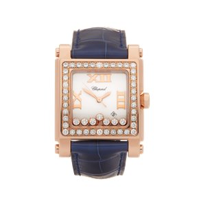 Chopard Happy Sport 7 Diamond 18k Rose Gold - 275321-5002