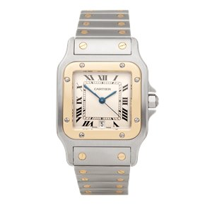 Cartier Santos Galbee Stainless Steel & 18K Yellow Gold - 1567