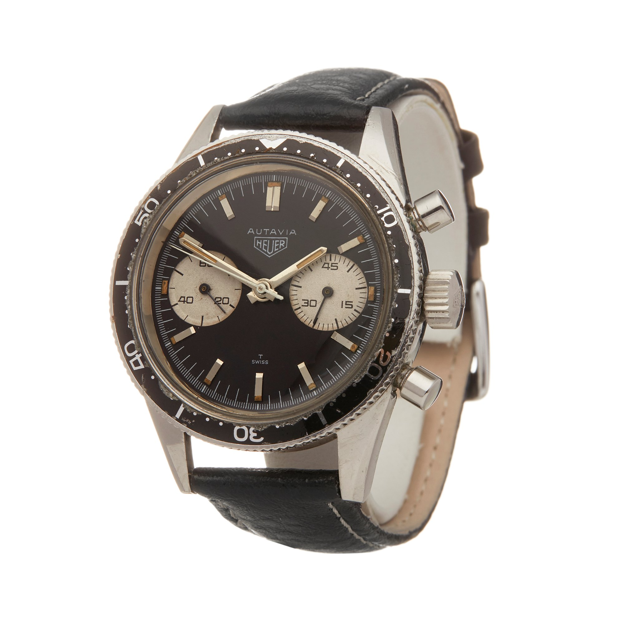 Heuer Autavia Andretti Chronograph Roestvrij Staal 3646