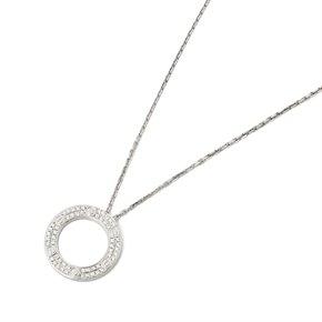 Cartier 18k White Gold Diamond Love Necklace