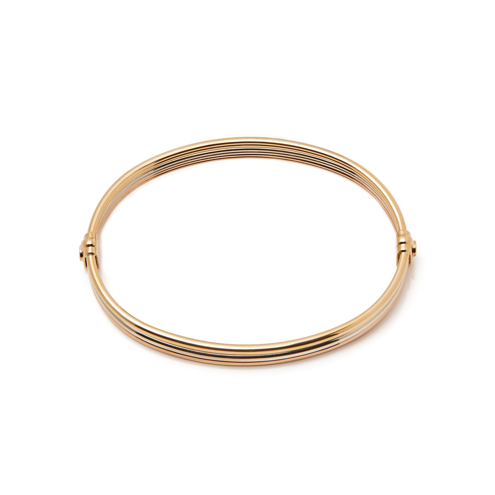Cartier 18k Yellow, White & Rose Gold Vintage Trinity Bracelet