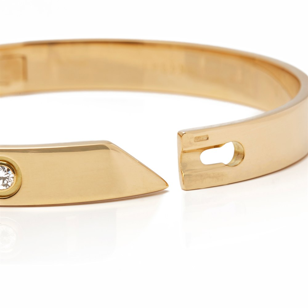 Cartier 18k Rose Gold 6 Diamond Love Bangle