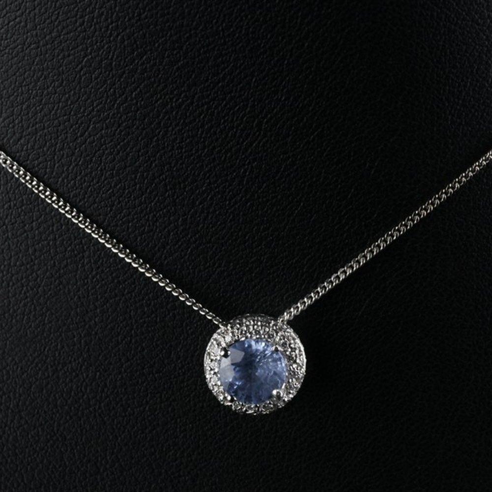 Mappin & Webb 18K White Gold Sapphire & Diamond Pendant