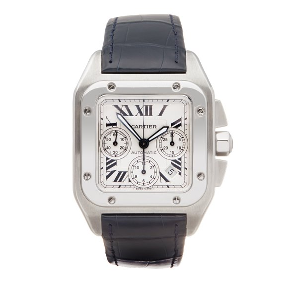 Cartier Santos 100 XL Chrongraph Stainless Steel - 2740 or W20090X8