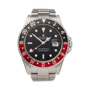 Rolex GMT-Master II Coke Rectangular Dial Stainless Steel - 16710