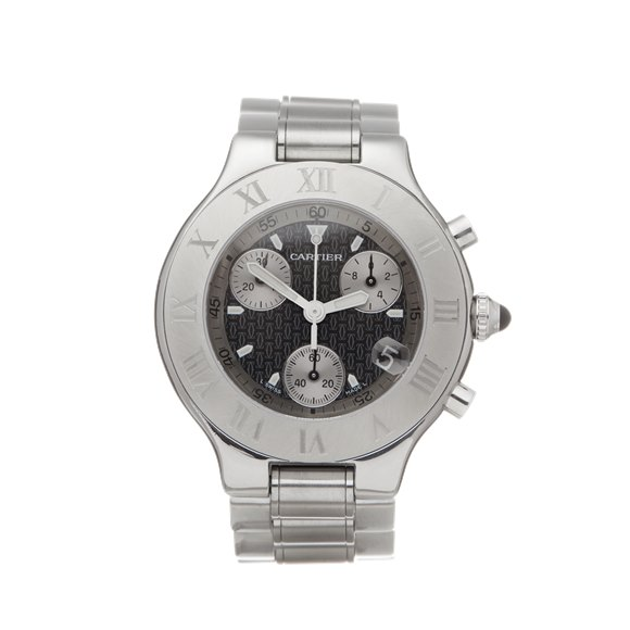 Cartier Must de 21 Chronoscaph Stainless Steel - W10184U2 or 2424