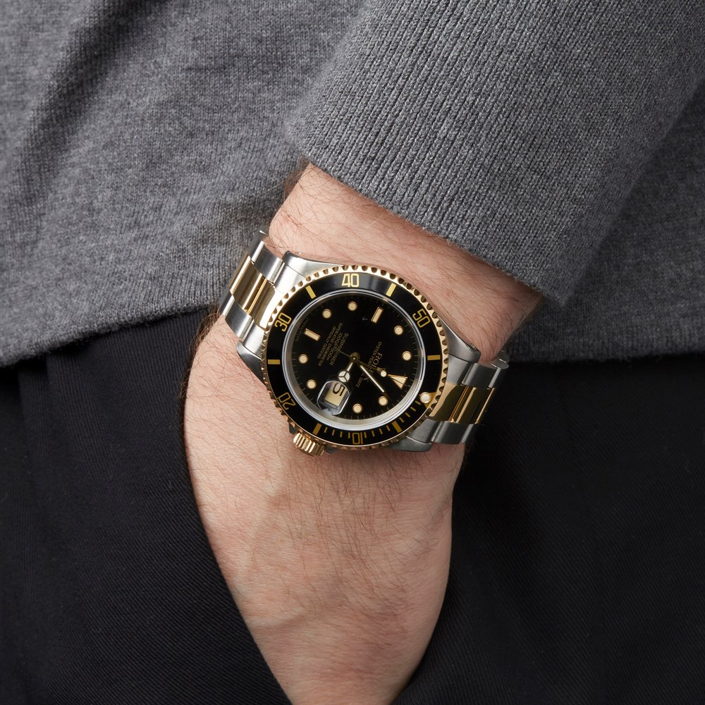 Rolex Submariner Date Stainless Steel & Yellow Gold 16613LN