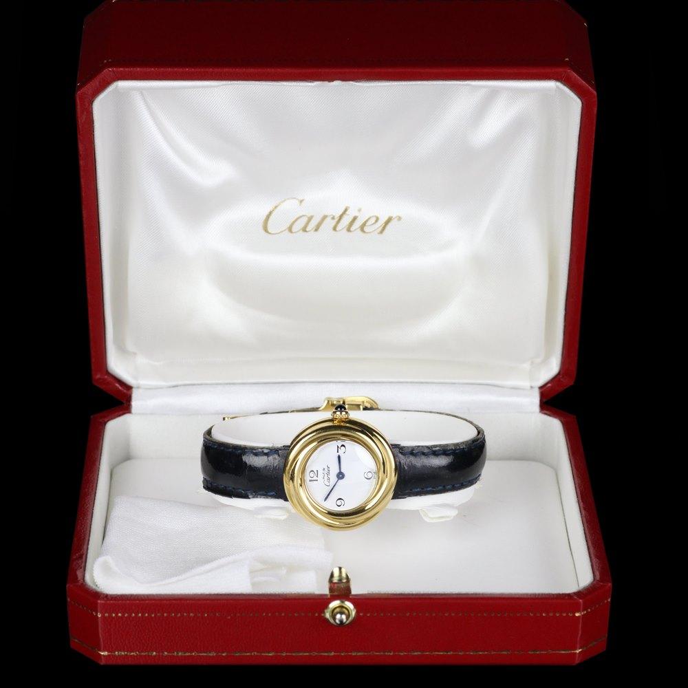 Cartier Must De Cartier 18k Yellow Gold Plated 925 Sterling Silver 2735