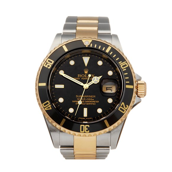 Rolex Submariner Stainless Steel & Yellow Gold - 16613LN