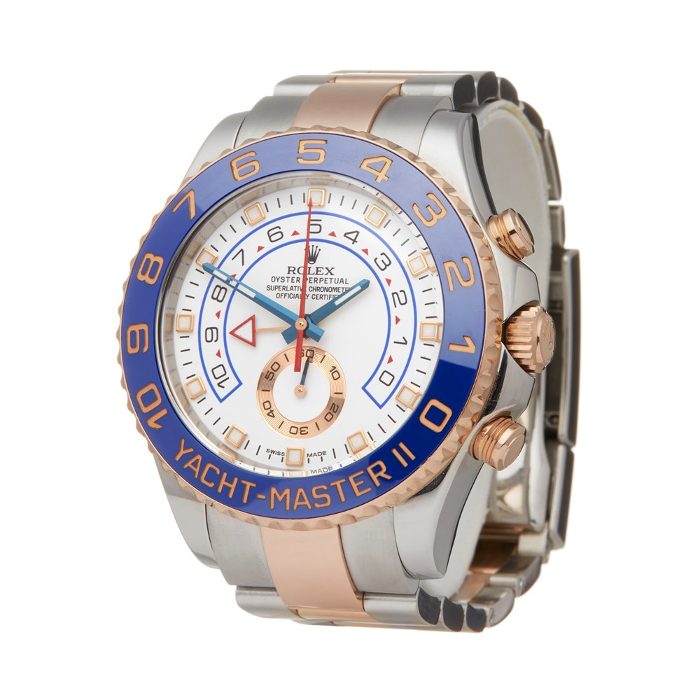 Rolex Yacht-Master II Chronograph Stainless Steel & Rose Gold 116681