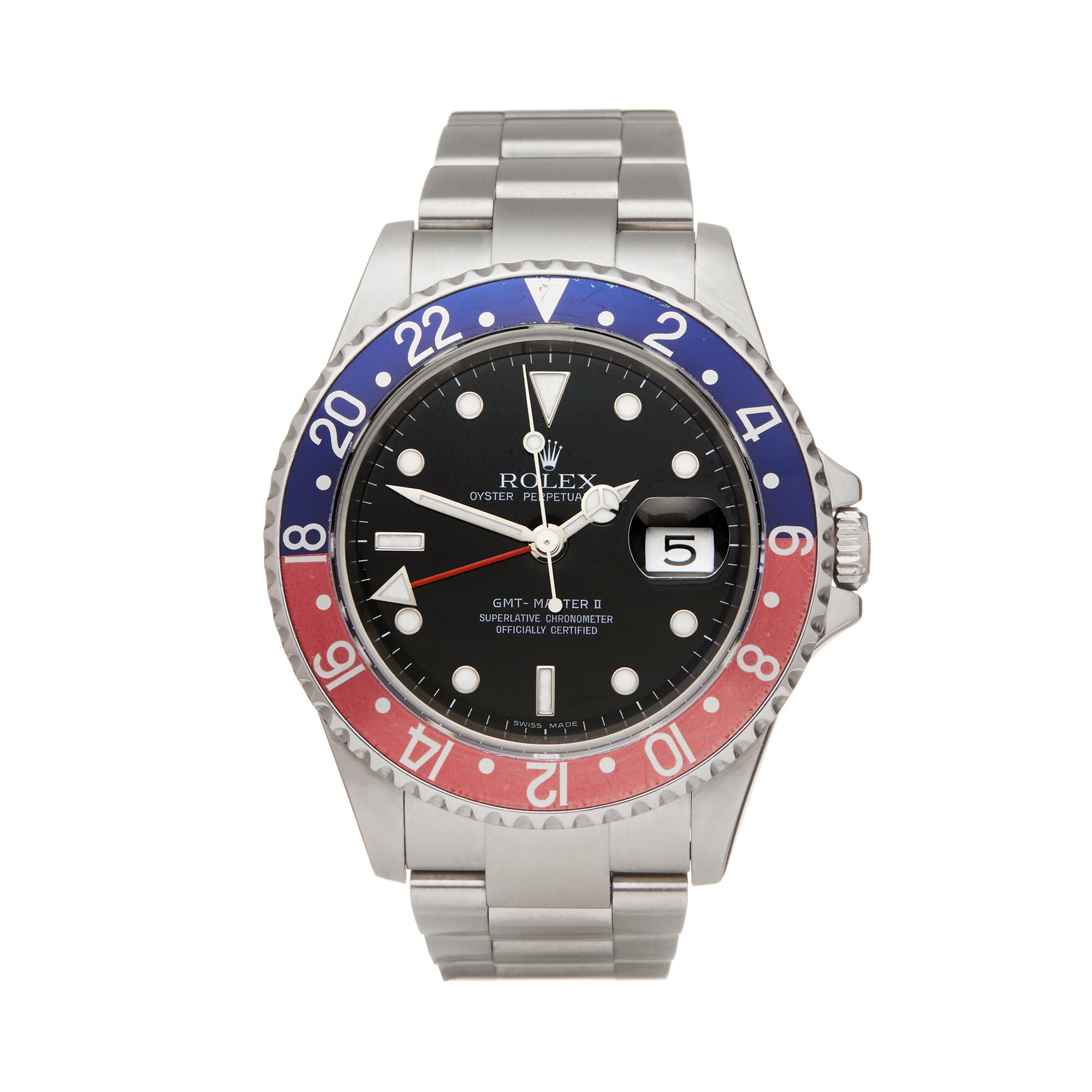 Details about ROLEX PEPSI RECTANGULAR DIAL GMT,MASTER II WATCH 16710 40MM  W5941