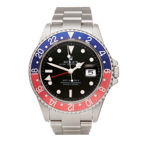Rolex GMT-Master II Coke Rectangular Dial With Card Stainless Steel - 16710