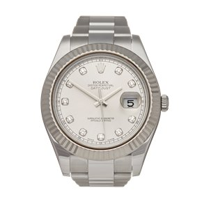 Rolex DateJust II 41 Diamond 18k Stainless Steel & White Gold - 116334