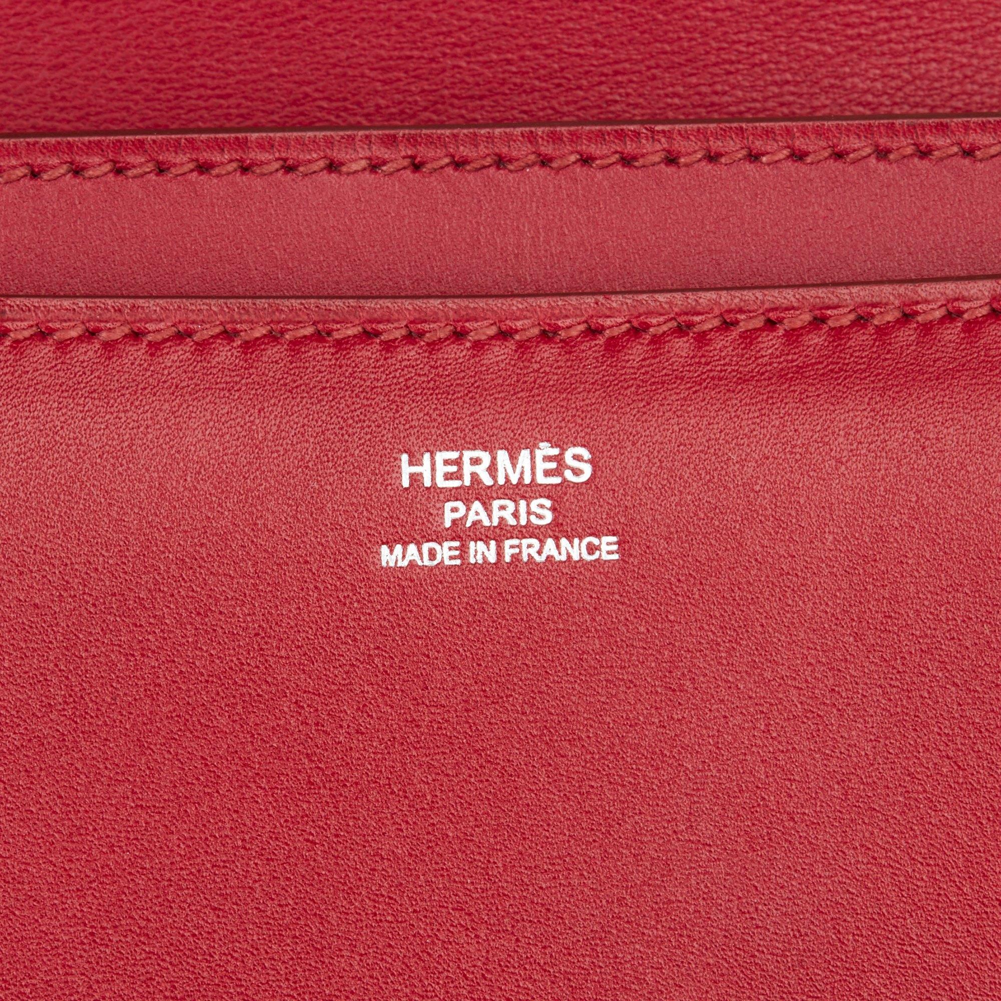 Hermès Rubis Tadelakt Leather Constance Elan