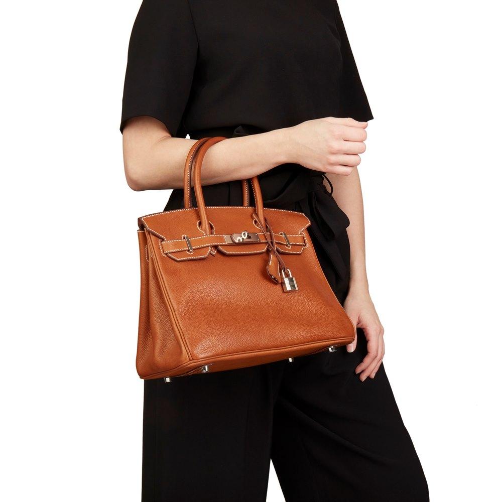 Hermès Barenia Faubourg Leather Birkin 30cm
