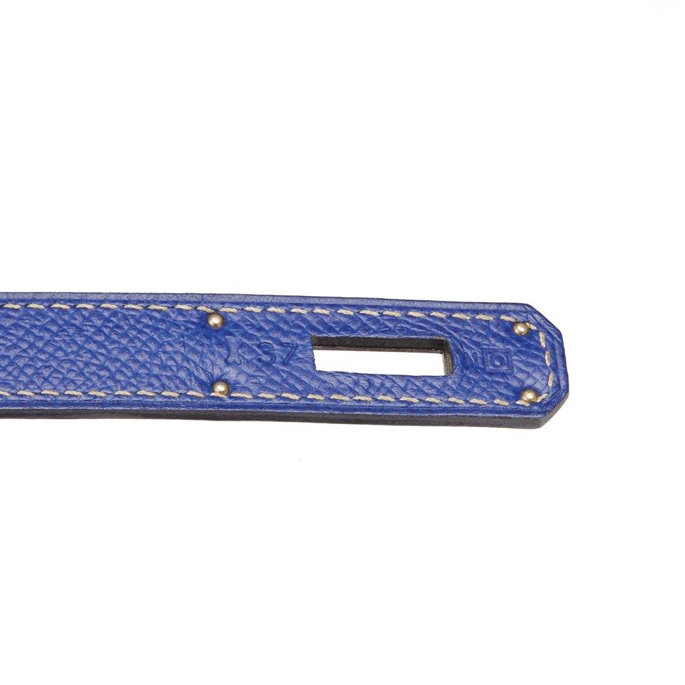 Hermès Bleu Electric & Mykonos Epsom Leather Candy Collection Kelly 35cm Retourne