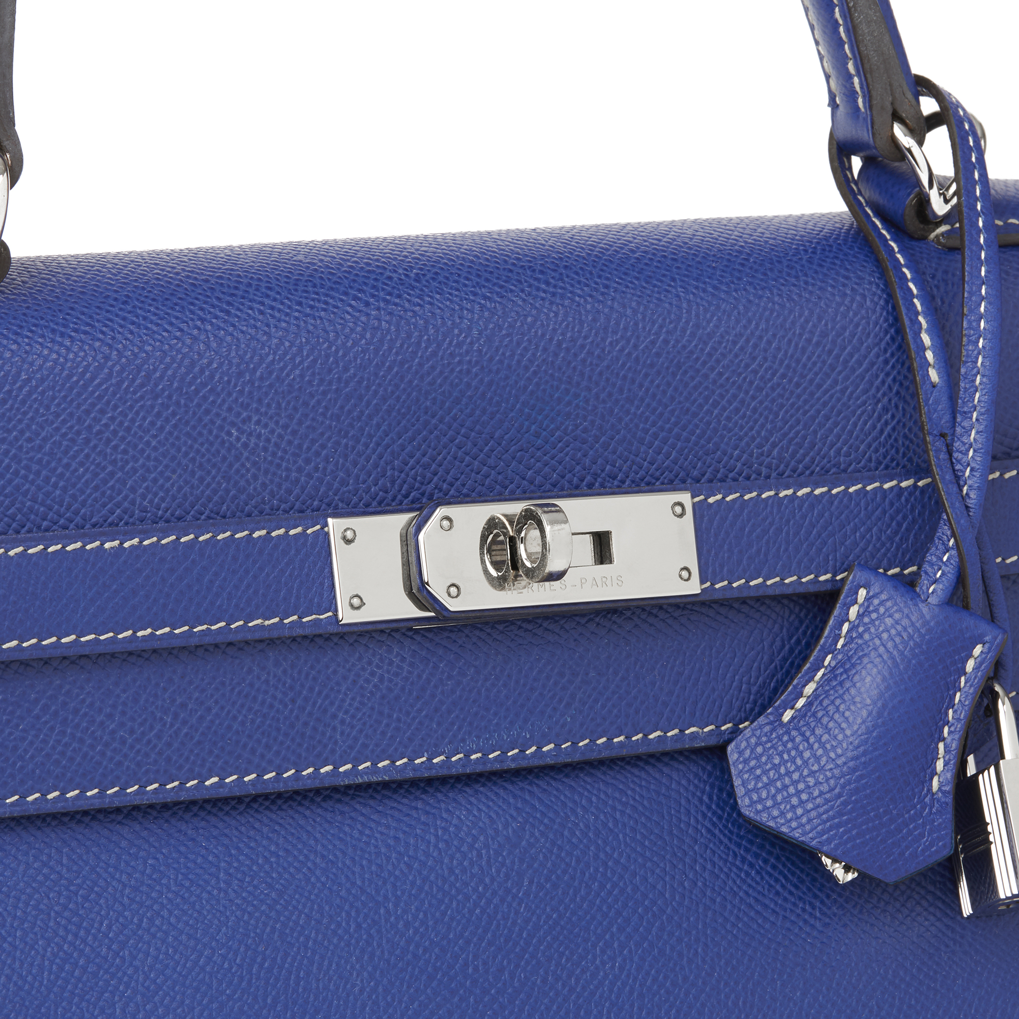 38e4cf38ea Hermès Bleu Electric   Mykonos Epsom Leather Candy Collection Kelly 35cm  Retourne