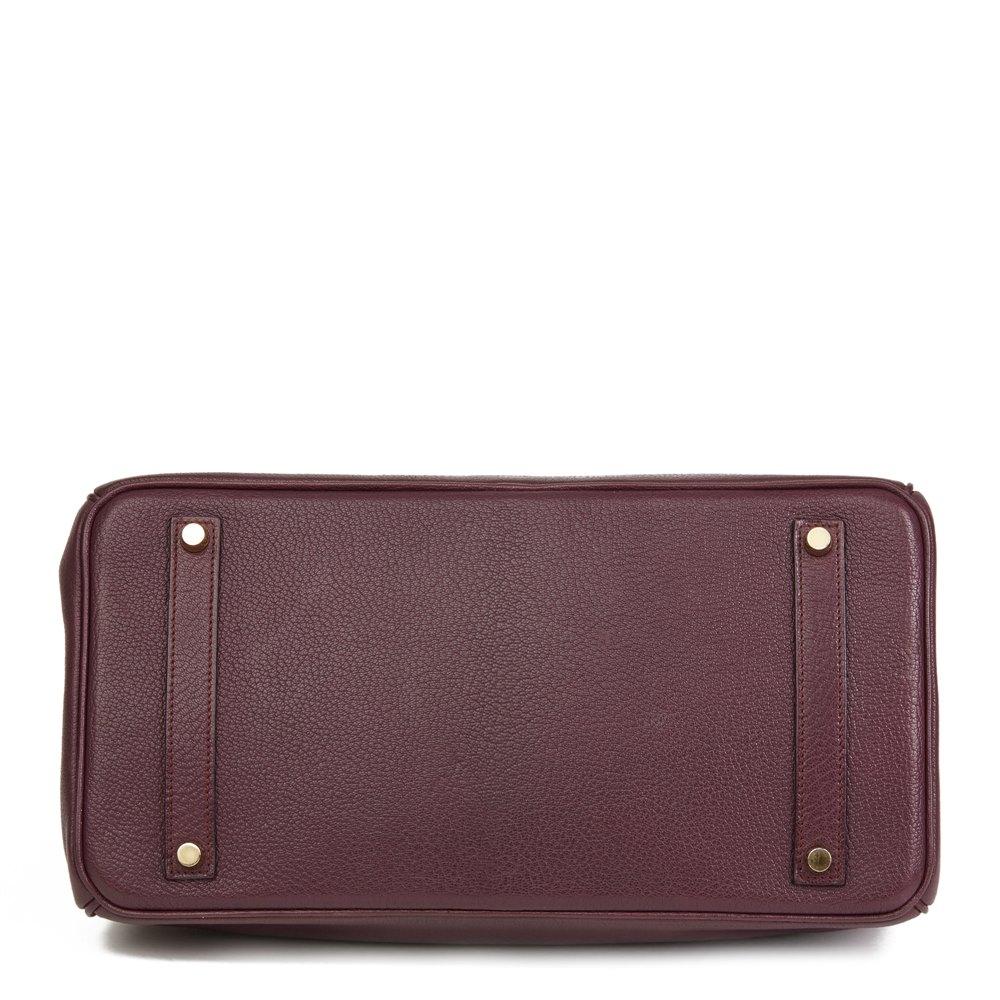 Hermès Prune & Graphite Chevre Mysore Leather Special Order Birkin 35cm