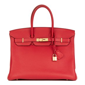 Hermès Rouge Casaque Togo Leather Birkin 35cm