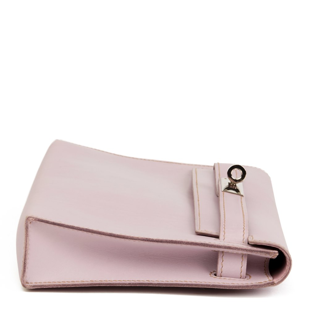 Hermès Lilac Box Nepal Leather Kelly Longue Clutch