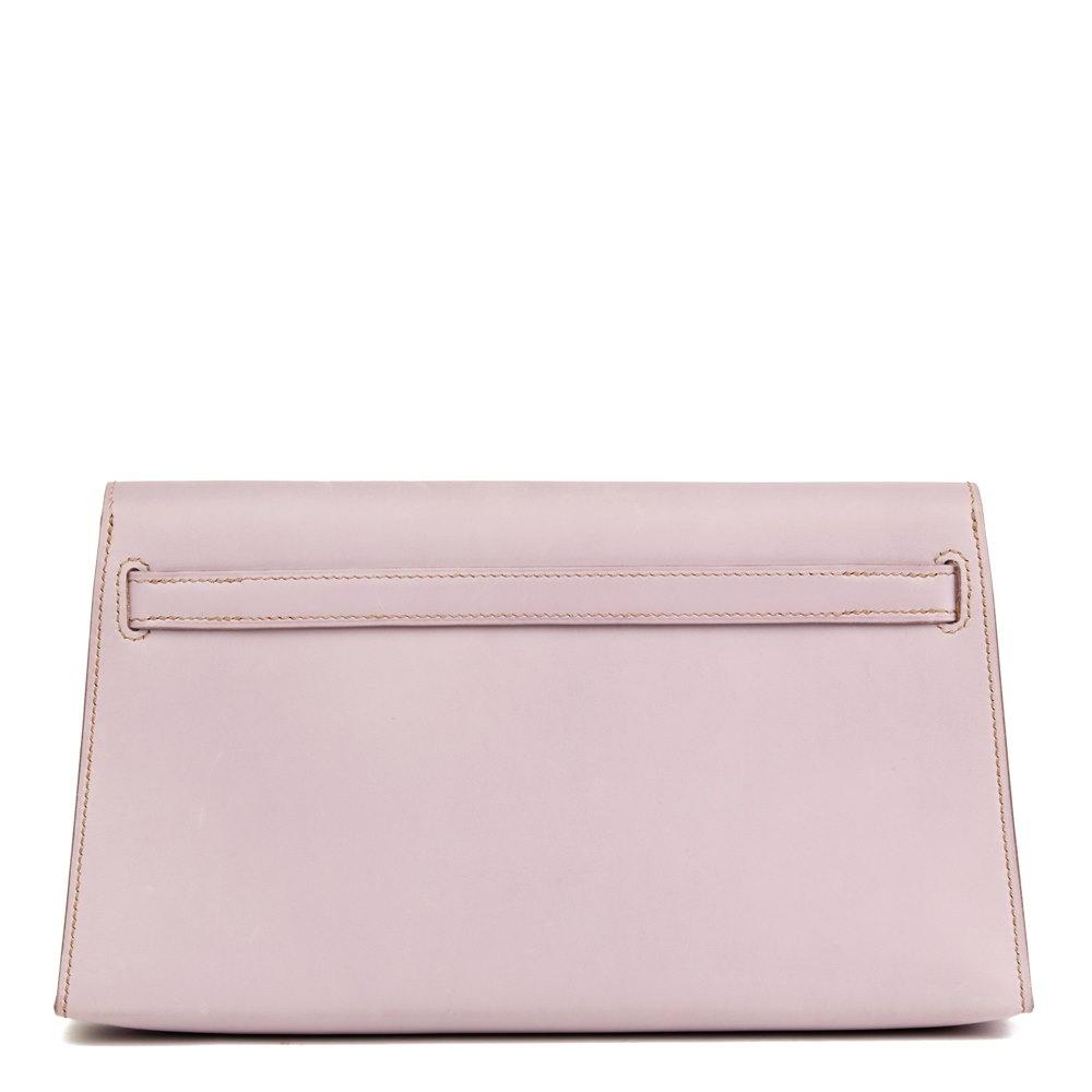 Hermès Lilac Box Nepal Leather Kelly Longue Clutch cccfd61a4f793
