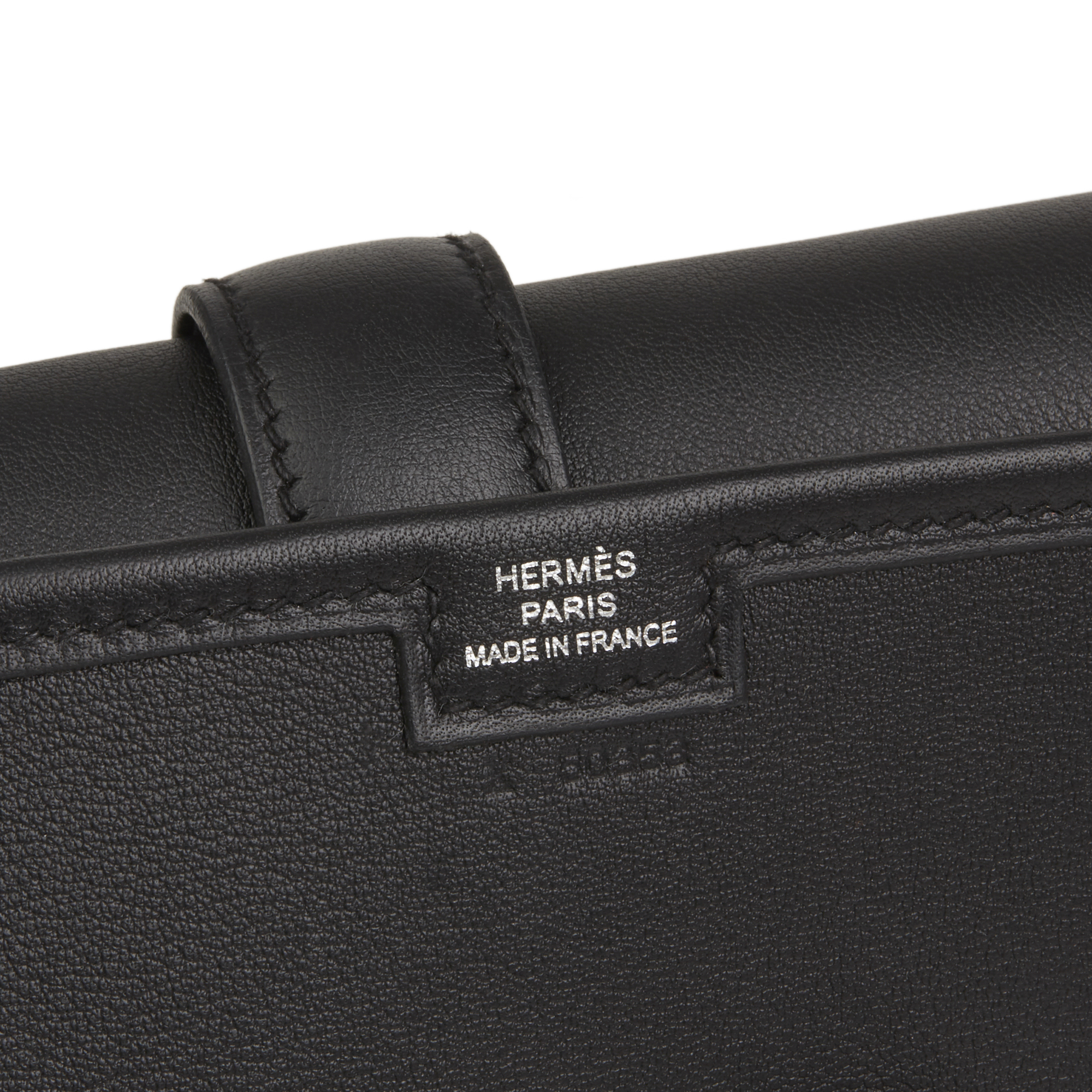 08db7b57d319 HERMÈS BLACK SWIFT LEATHER JIGE ELAN 29 HB2540